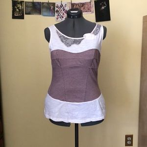 Corset style tank top